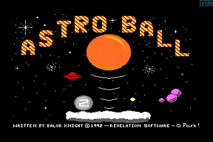 Image de l'ecran titre du jeu Astroball sur MGT Sam Coupé