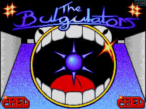 Image de l'ecran titre du jeu Bulgulators, The sur MGT Sam Coupé