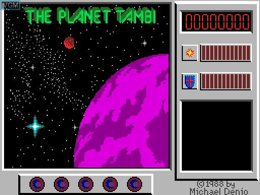 Image du menu du jeu Captain Comic sur MGT Sam Coupé