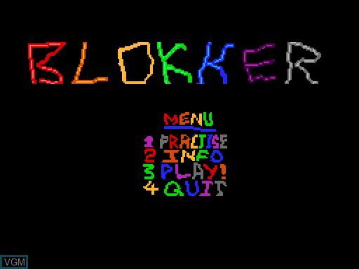 Image du menu du jeu Blokker sur MGT Sam Coupé