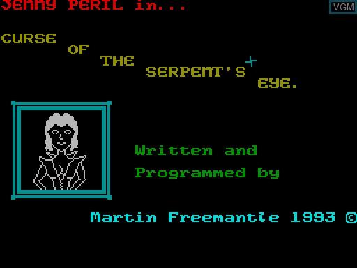 Image du menu du jeu Curse of the Serpent's Eye sur MGT Sam Coupé