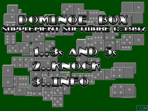 Image du menu du jeu Domino Box sur MGT Sam Coupé