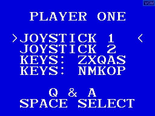 Image du menu du jeu Escape from the Planet of the Robot Monsters sur MGT Sam Coupé