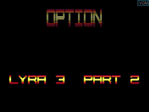 Image du menu du jeu Coloris sur MGT Sam Coupé