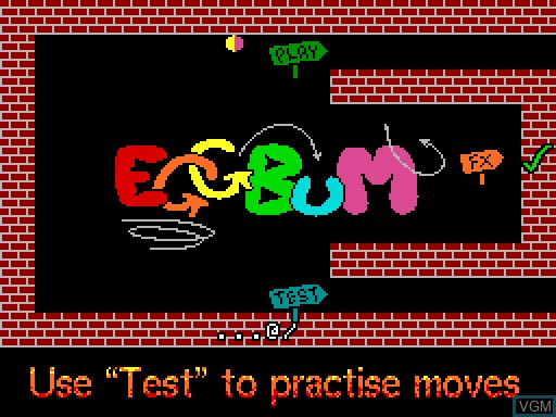 Image du menu du jeu EGGBuM sur MGT Sam Coupé