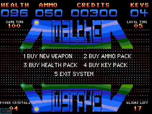 Image du menu du jeu Amalthea sur MGT Sam Coupé