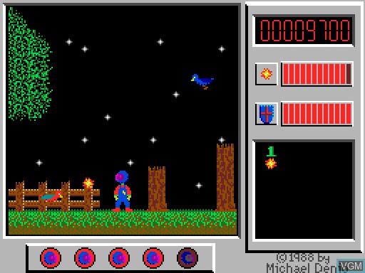 Image in-game du jeu Captain Comic sur MGT Sam Coupé