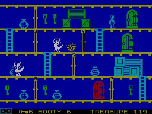 Image in-game du jeu Booty sur MGT Sam Coupé