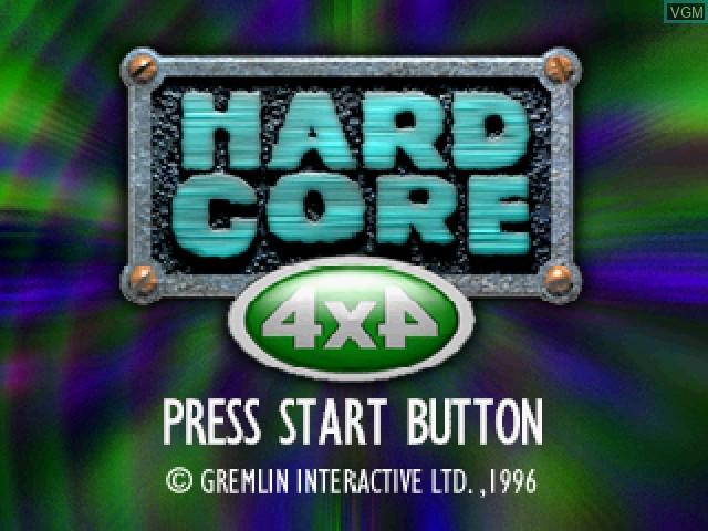 Image de l'ecran titre du jeu Hardcore 4x4 sur Sega Saturn