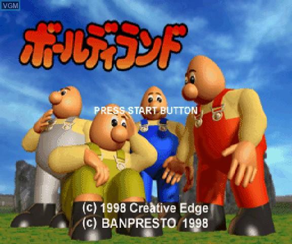 Image de l'ecran titre du jeu Baldy Land sur Sega Saturn
