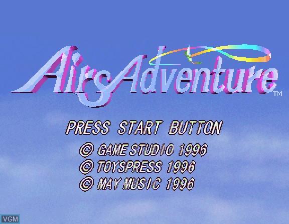 Image de l'ecran titre du jeu Airs Adventure sur Sega Saturn