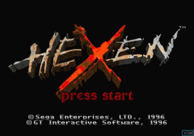 Image de l'ecran titre du jeu Hexen - Beyond Heretic sur Sega Saturn