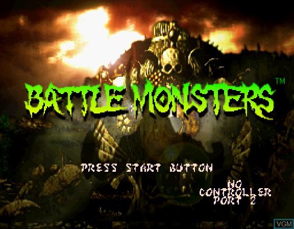 Image de l'ecran titre du jeu Battle Monsters sur Sega Saturn