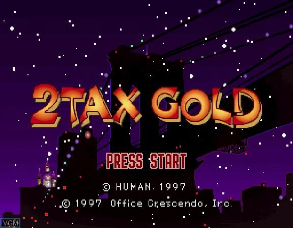 Image de l'ecran titre du jeu 2Tax Gold sur Sega Saturn