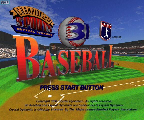 Image de l'ecran titre du jeu 3D Baseball sur Sega Saturn