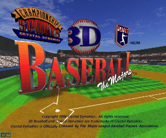 Image de l'ecran titre du jeu 3D Baseball - The Majors sur Sega Saturn