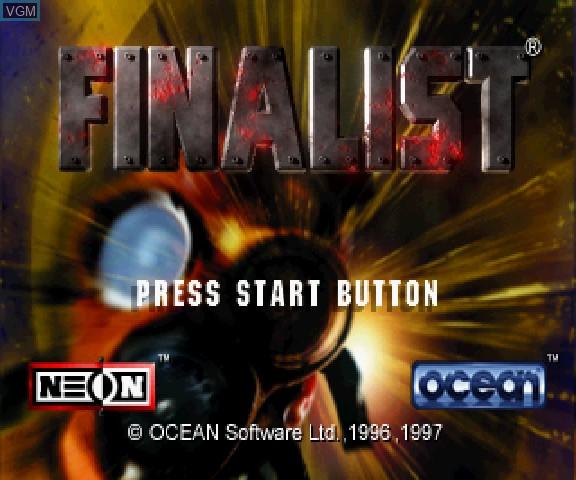Image de l'ecran titre du jeu 3D Mission Shooting Finalist sur Sega Saturn