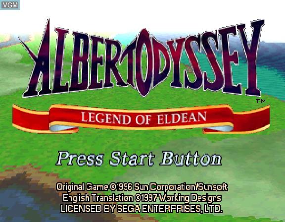 Image de l'ecran titre du jeu Albert Odyssey - Legend of Eldean sur Sega Saturn