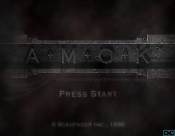 Image de l'ecran titre du jeu Amok sur Sega Saturn