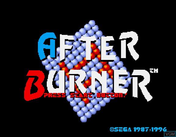 Image de l'ecran titre du jeu Afterburner II sur Sega Saturn