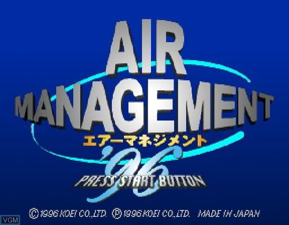 Image de l'ecran titre du jeu Air Management '96 sur Sega Saturn