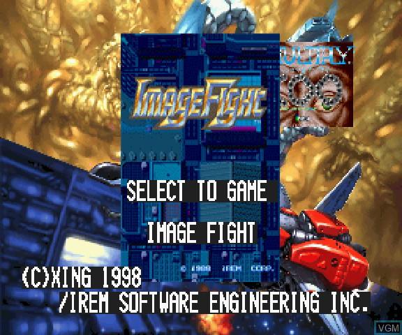 Image de l'ecran titre du jeu Arcade Gears Vol.4 - Image Fight & X-Multiply sur Sega Saturn
