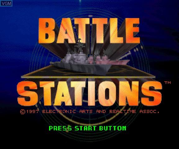 Image de l'ecran titre du jeu Battle Stations sur Sega Saturn