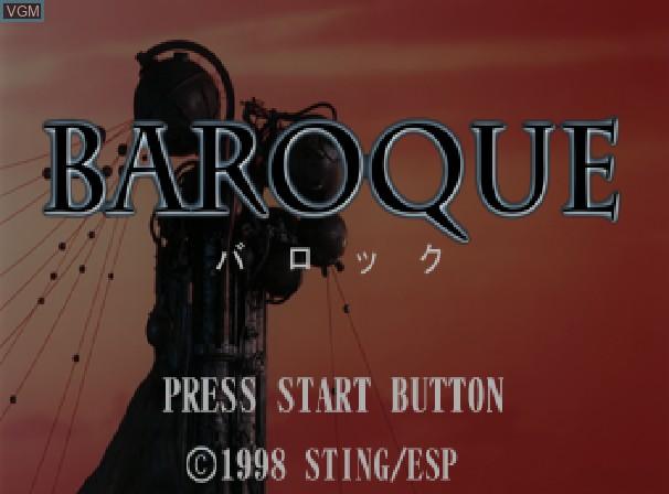 Image de l'ecran titre du jeu Baroque sur Sega Saturn