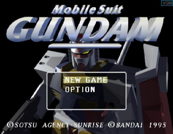 Image de l'ecran titre du jeu Kidou Senshi Gundam sur Sega Saturn