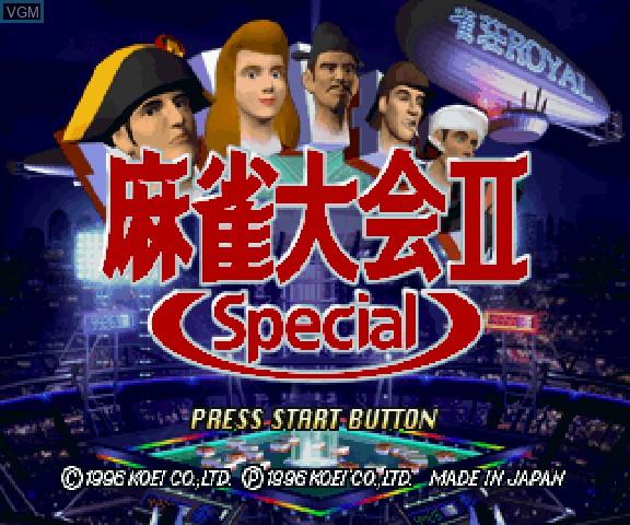 Image de l'ecran titre du jeu Maajan Taikai II Special sur Sega Saturn