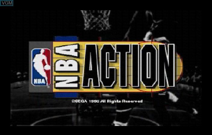 Image de l'ecran titre du jeu NBA Action sur Sega Saturn