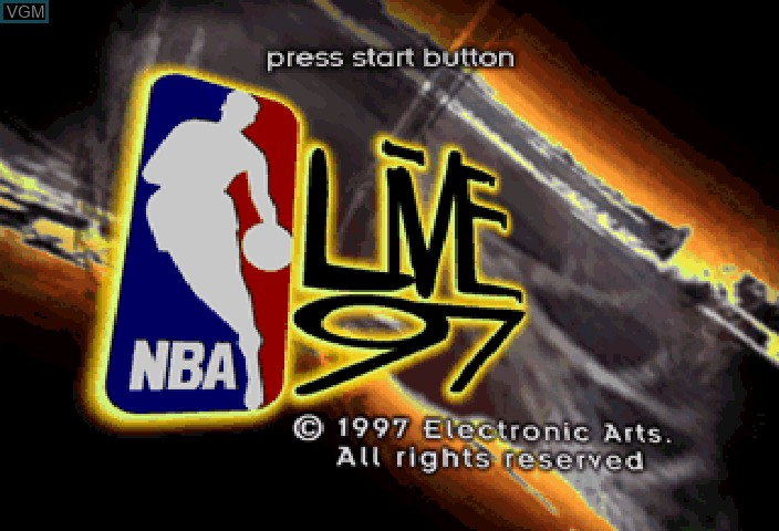 Image de l'ecran titre du jeu NBA Live 97 sur Sega Saturn
