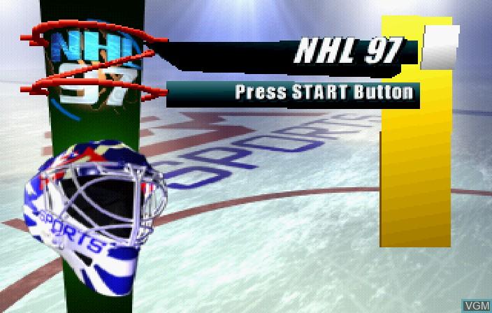 Image de l'ecran titre du jeu NHL 97 sur Sega Saturn