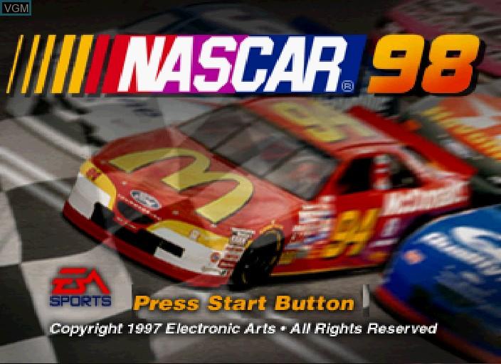 Image de l'ecran titre du jeu NASCAR '98 sur Sega Saturn