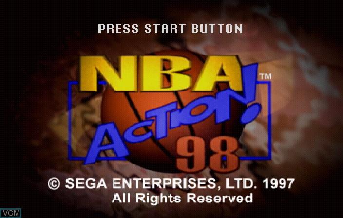 Image de l'ecran titre du jeu NBA Action '98 sur Sega Saturn