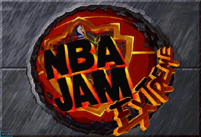 Image de l'ecran titre du jeu NBA Jam Extreme sur Sega Saturn