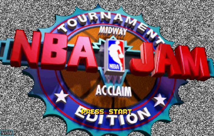 Image de l'ecran titre du jeu NBA Jam Tournament Edition sur Sega Saturn