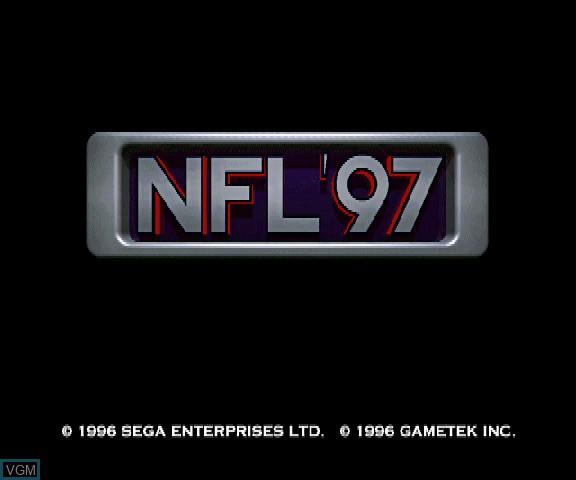 Image de l'ecran titre du jeu NFL '97 sur Sega Saturn
