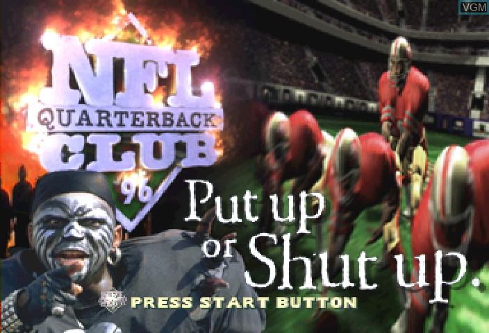 Image de l'ecran titre du jeu NFL Quarterback Club '96 sur Sega Saturn