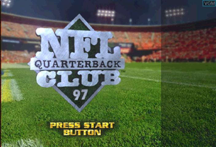 Image de l'ecran titre du jeu NFL Quarterback Club '97 sur Sega Saturn