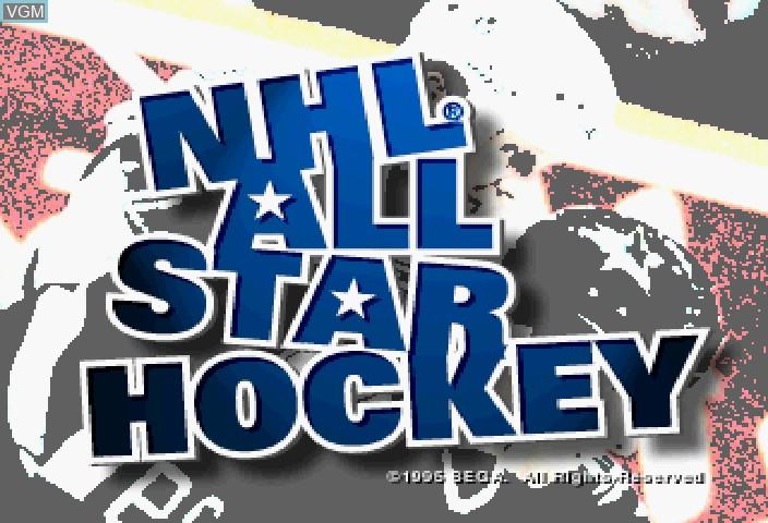 Image de l'ecran titre du jeu NHL All-Star Hockey sur Sega Saturn