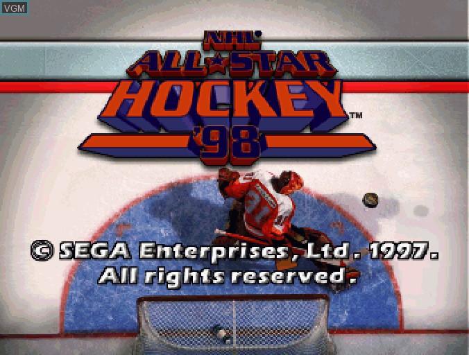Image de l'ecran titre du jeu NHL All-Star Hockey '98 sur Sega Saturn