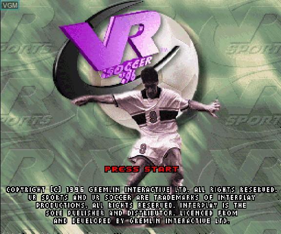 Image de l'ecran titre du jeu VR Soccer sur Sega Saturn