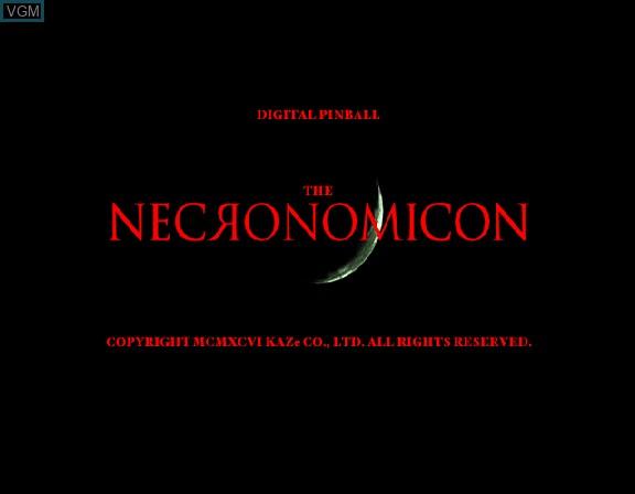 Image de l'ecran titre du jeu Digital Pinball - Necronomicon sur Sega Saturn