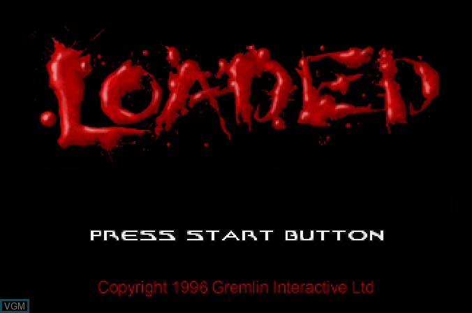 Image de l'ecran titre du jeu Loaded sur Sega Saturn