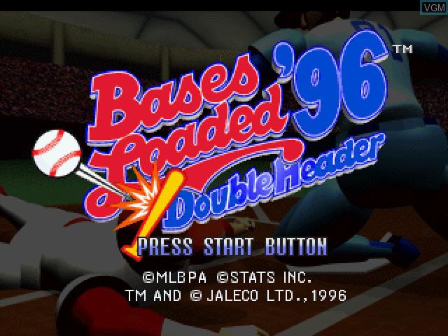 Image de l'ecran titre du jeu Bases Loaded '96 - Double Header sur Sega Saturn