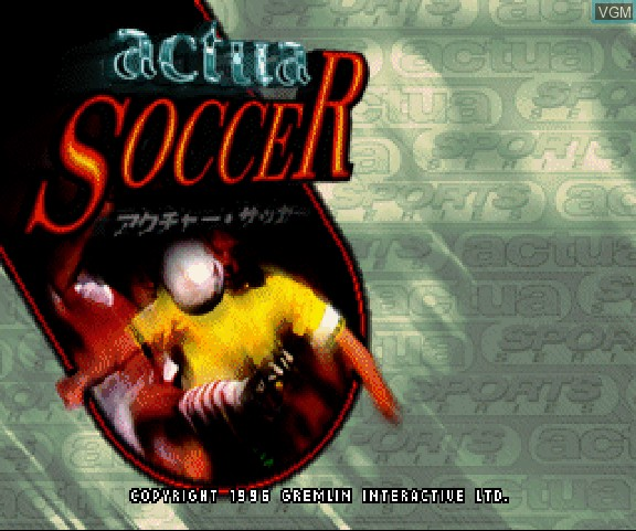 Image de l'ecran titre du jeu Actua Soccer sur Sega Saturn