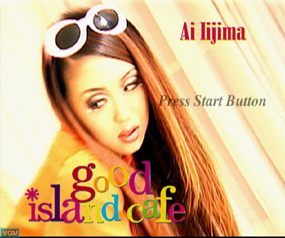 Image de l'ecran titre du jeu Ai Iijima Interactive Video Clip - Good Island Cafe sur Sega Saturn