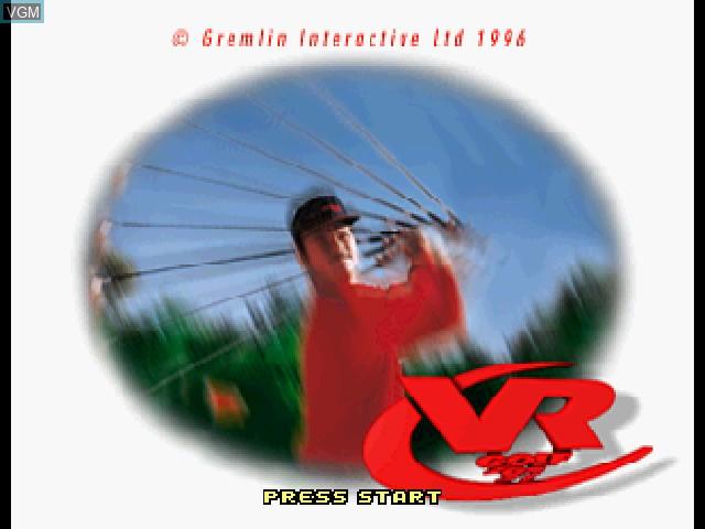 Image de l'ecran titre du jeu VR Golf '97 sur Sega Saturn