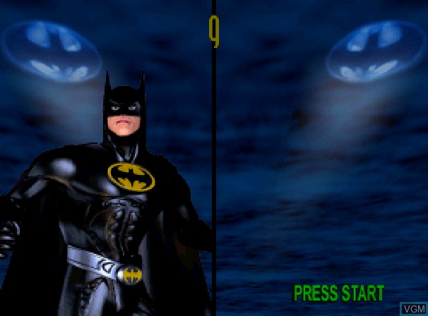 Image du menu du jeu Batman Forever - The Arcade Game sur Sega Saturn